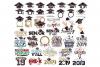 Graduation SVG Monogram Hat Cap in SVG, DXF, PNG, EPS, JPEG example image 1