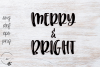 Merry & Bright SVG example image 1