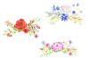 Watercolor Illustration With Field Flowers, Vintage Wedding example image 7