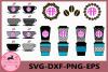 Coffee Svg, Coffee Monogram Svg Files, Vector Clip Art example image 1
