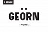 Georn Typeface  example image 1
