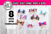 Hair bow svg files - 16 hair bow BUNDLE templates - discount example image 2