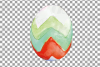Watercolor Easter eggs colorful clip art pack example image 8