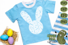 Plaid & Grunge Spring Easter Bunny 2 SVG Cut File example image 2
