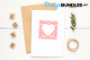 Heart frame paper cut design example image 6