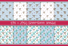 Cute Christmas Deer. Seamless patterns example image 2