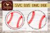 Baseball Round SVG DXF Comm example image 1