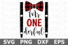 Mr ONE derful - A Birthday SVG Cut File example image 2