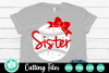 Grunge Baseball Sister - A Sports SVG Cut File example image 1