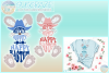 Hippity Hoppity Happy Easter Bunny With Cowboy Hat SVG example image 1