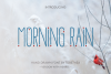 Morning Rain Font with Hearts example image 1