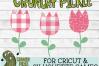 Plaid & Grunge Tulip SVG Cut File example image 4