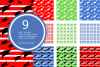 Graduation Seamless Patterns - Vector files - Background example image 4