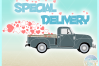 Valentines Day Special Delivery Truck Svg Dxf Eps Png Pdf example image 3