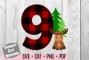 Nine Moose Buffalo Plaid Birthday Set SVG example image 1