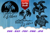 Palm Beach Summer Vibes Turtle SVG DXF Cut Files Bundle example image 3
