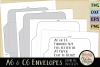 A6 & C6 Envelope SVG - Envelope Cutting File Template example image 4