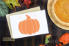 Pumpkin, single line sketch file / foil quill file. example image 2
