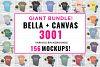 Bella Canvas 3001 Mockup Bundle, Knotted Tshirt Mockup example image 1