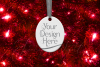 Oval Christmas Ornament Mockup, Sublimation Mock-Up, PSD example image 13