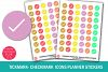 Tickmark-Checkmark Icons Planner Stickers- Checkmark Sticker example image 1