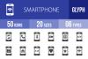 50 Smartphone Glyph Icons example image 1