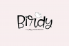 Birdy - A Quirky Handwritten Font example image 1
