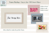 Horizontal Frame Mockup, Photoshop Smart Object, PSD example image 1