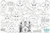 Vampire Bats Digital Stamps, Instant Download Vector Art example image 2
