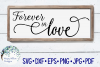 Forever In Love | Wedding Sign SVG Cut File example image 1