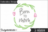Born to Mom Embroidery Design example image 1