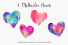Gold & Vibrant Watercolor Hearts example image 4