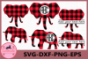 Elephant Buffalo Plaid Svg, Elephant SVG File, Elephant example image 1