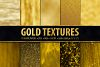 Gold Foil and Glitter Textures - Metallic Digital Papers example image 1