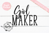 Girl Maker SVG DXF PNG EPS Cutting Files example image 2