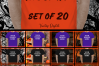 Halloween and Fall Men t-shirt Mockup Bundle, Colored T's example image 7