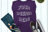 Women's Rolled Cuffs Tank Mockups - 7 example image 5