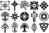 Celtic Symbols, Knots & Crosses AI EPS PNG, Irish Clip Art example image 3