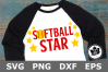 Softball Star - A Sports SVG Cut File example image 2