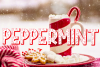Peppermint | A Holiday Font With Candy Canes in Letters example image 1