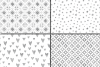 Silver foil seamless geometric patterns, digital papers example image 2