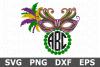 Mardi Gras Monogram - A Mardi Gras SVG Cut File example image 1
