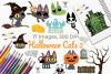 Halloween Cats 2 Clipart, Instant Download Vector Art example image 1