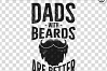 Retro Beard Dad Print / Vintage Fathers Day TShirt SVG File example image 2