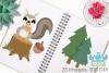 Squirrel Girls Clipart, Instant Download Vector Art example image 3