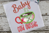Baby it's Cold OutsideApplique Embroidery Design example image 2