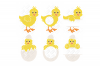 Easter Chick SVG Monogram Quotes in SVG, DXF, PNG, EPS, JPEG example image 3
