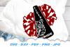 Tiger Pride Mascot Cheer Pom SVG DXF Cut Files Bundle example image 3