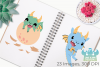 Little Dragon Boys Clipart, Instant Download Vector Art example image 3