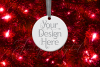 Round Christmas Ornament Mockup, Bauble Mock- Up, JPG example image 13